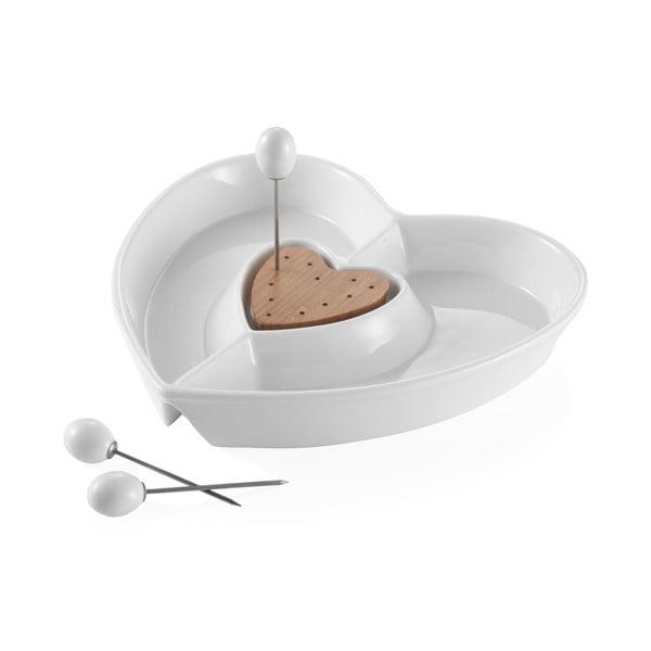 Zestaw 2 porcelanowych misek w kształcie serca Brandani Heart