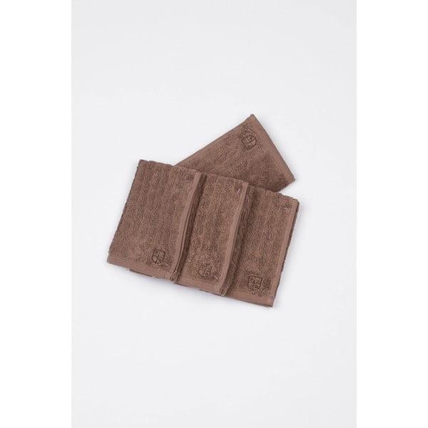 Sada 4 ručníků U.S. Polo Assn. Eden Mink, 30x30 cm