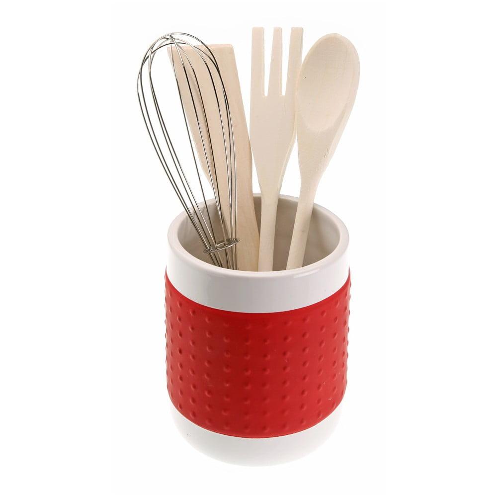 Červený stojan na kuchyňské nástroje Versa