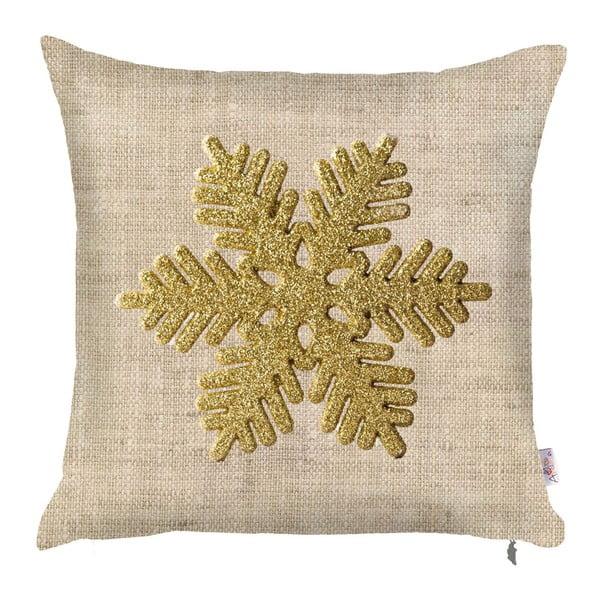 Față de pernă de Crăciun Apolena Honey Snowflake, 43 x 43 cm