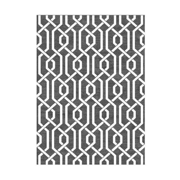 Vlněný koberec Camila Grey, 155x240 cm