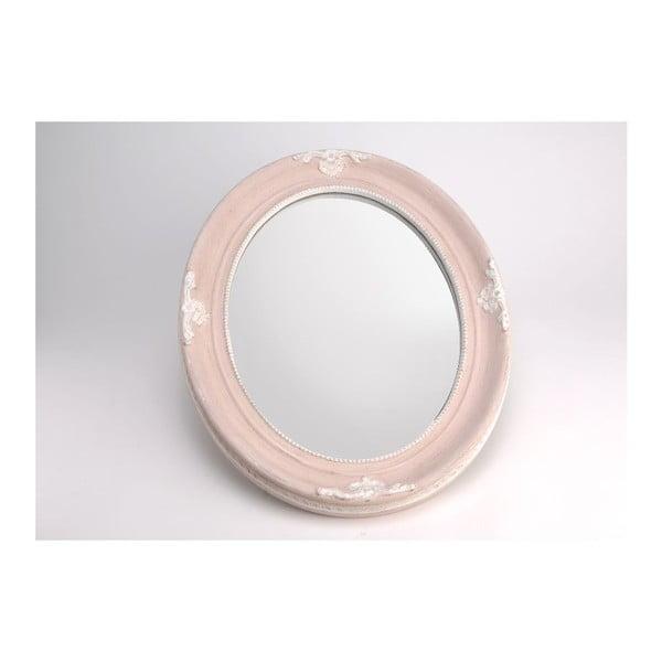 Zrcadlo Oval Pink, 50x40 cm