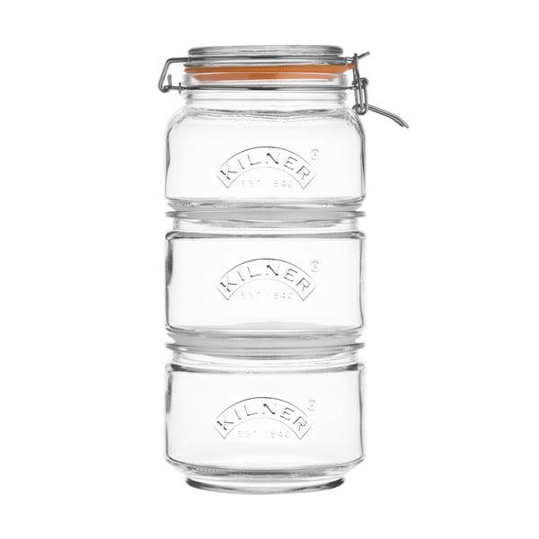 Sada 3 sklenic na skladování potravin Kilner