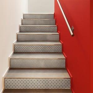 Sada 2 samolepek na schody Ambiance Stickers Stair Jakob, 15 x 105 cm