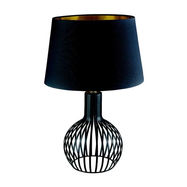 Stolní lampa Searchlight Cage, černá
