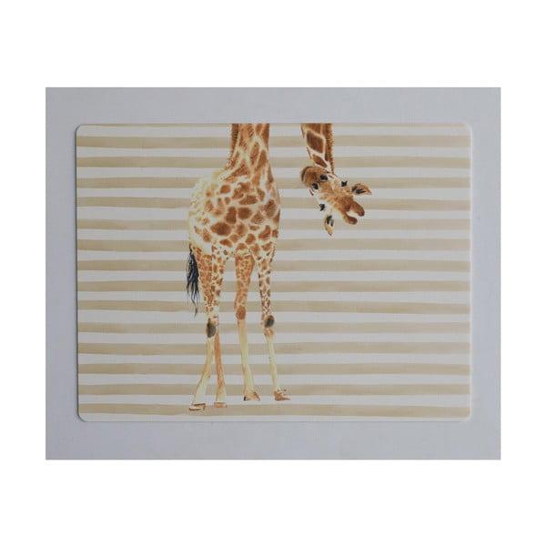 Podložka na stůl Little Nice Things Giraffe, 55 x 35 cm