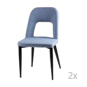 Sada 2 světle modrých jídelních židlí sømcasa Anika