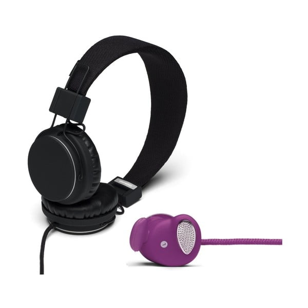 Sluchátka Plattan Black + sluchátka Medis Grape ZDARMA