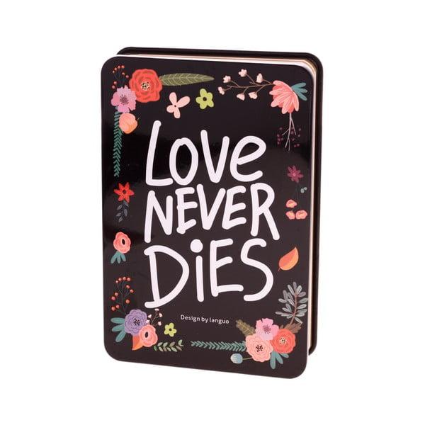 Plechový zápisník Languo Love, černý