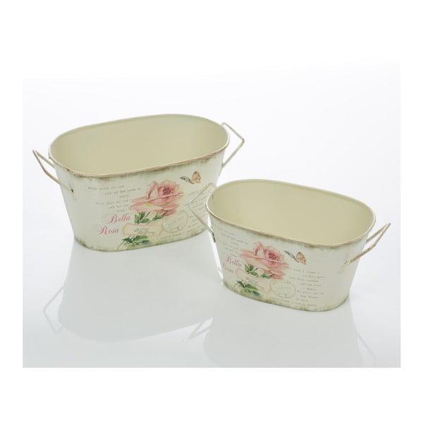 Sada 2 květináčů Rose Bucket