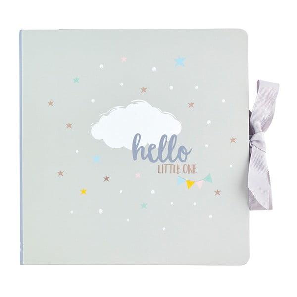 Světle šedý deník miminka Busy B, 60 stránek