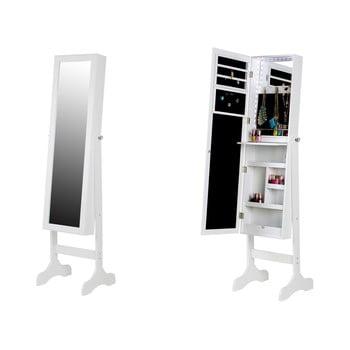 Dulăpior pentru bijuterii cu oglindă și LED Chez Ro Bien, alb imagine