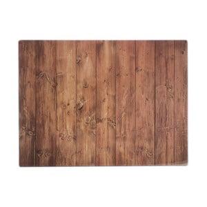 Hnědá pracovní deska s motivem dřeva Typhoon 40 x 30 cm