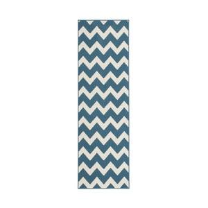 Modrobílý koberec Kayoom Maroc, 80x150cm