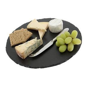 Břidlicové prkénko na sýry Round, 30 cm