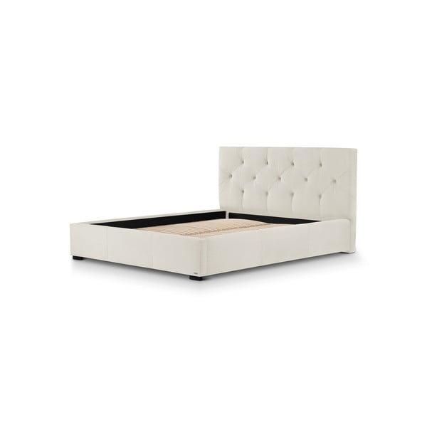 Krémově bílá dvoulůžková postel s úložným prostorem Guy Laroche Home Fantasy, 180x200cm