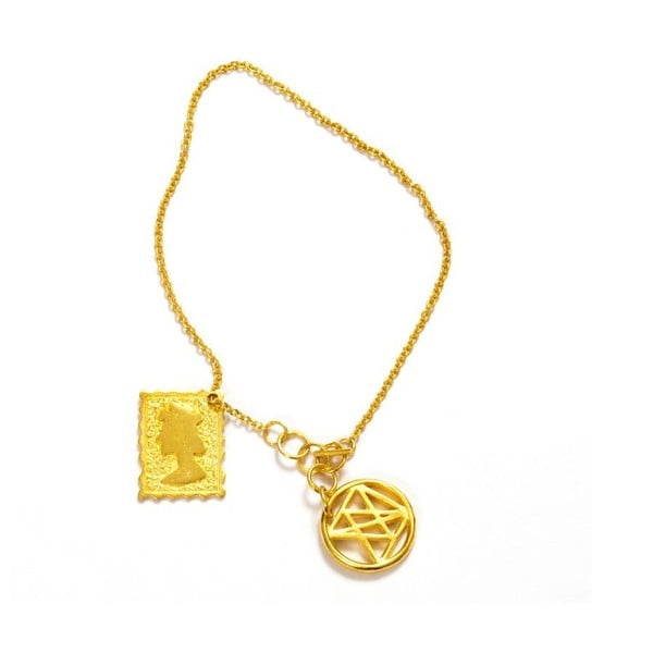Náramek Queen Gold, 17 cm