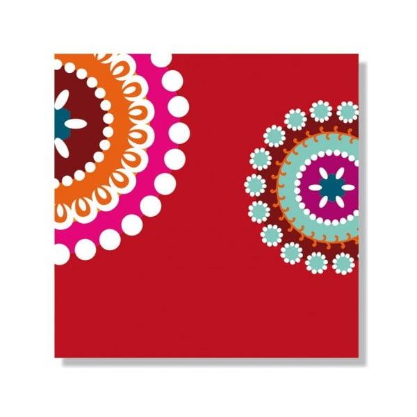 Barevné ubrousky Marai Red, 40 ks
