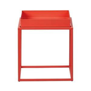 Oranžový kovový odkládací stolek Intersil Club NY