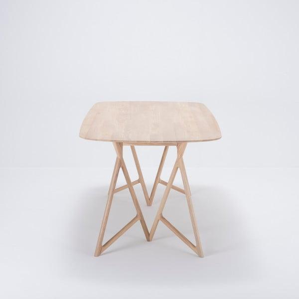 Jídelní stůl z masivního dubového dřeva Gazzda Koza, 200x90cm