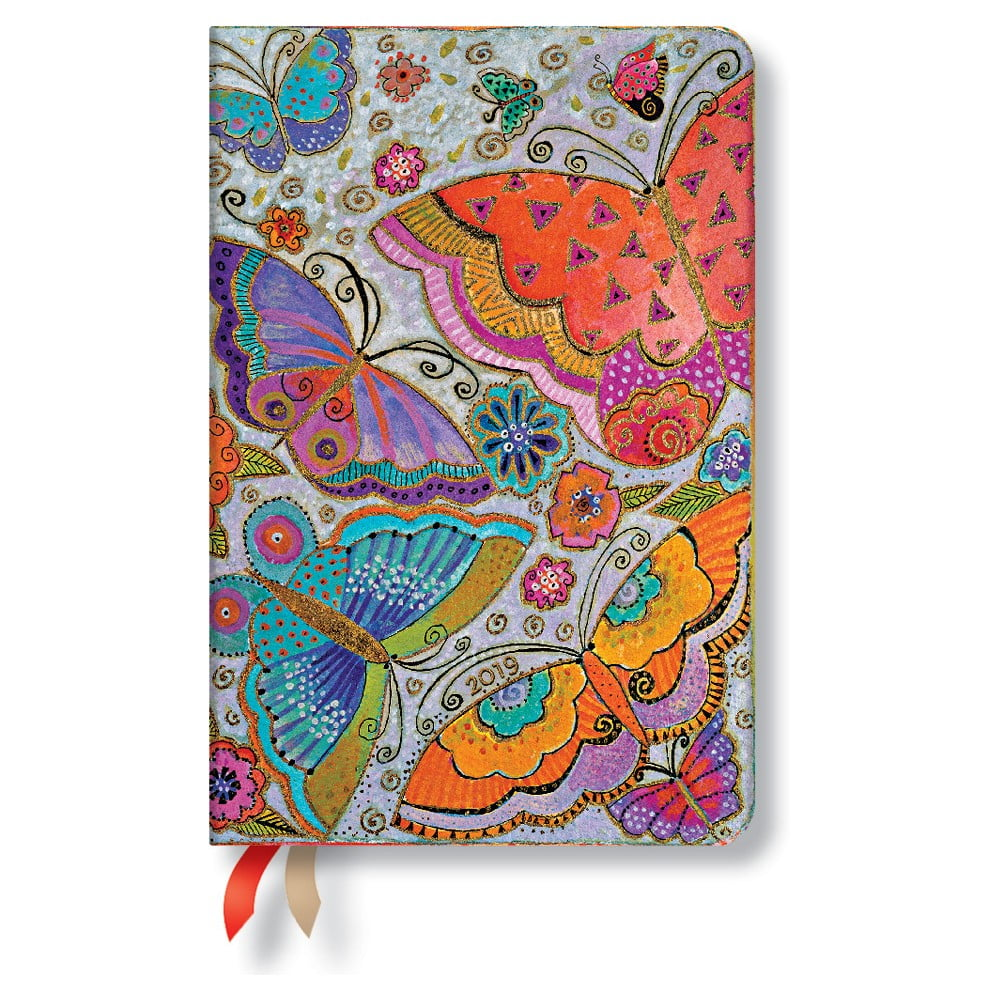 Diář na rok 2019 Paperblanks Flutterbyes Horizontal, 9,5 x 14 cm