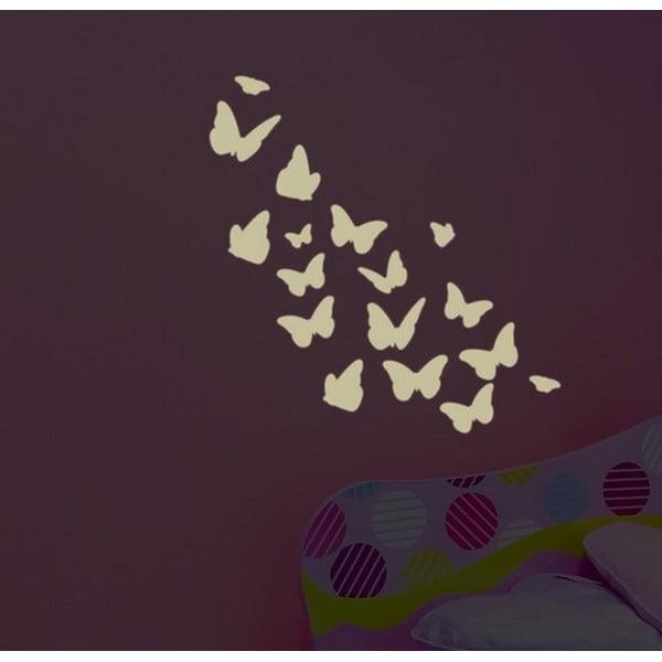 Dekorativní svítící samolepka Farfalle