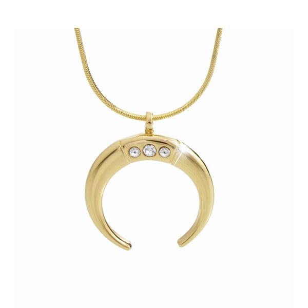 Half Moon aranyszínű nyaklánc Swarovski Elements kristályokkal - Laura Bruni