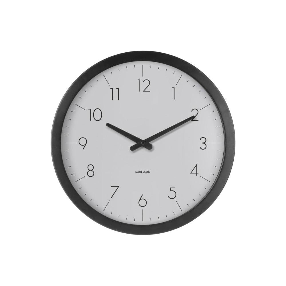 cc0594da272 Šedé nástěnné hodiny z jedlového dřeva Karlsson Dainty