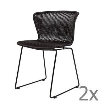 Set 2 scaune WOOOD Wings, negru de la WOOOD