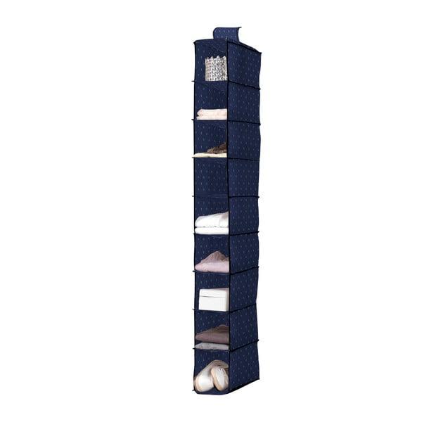 Tmavomodrý závesný organizér s 9 priehradkami Compactor Kasuri Range, šírka 15 cm