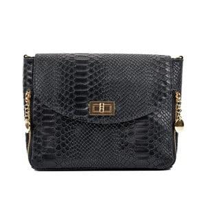 Černá kožená kabelka Roberta M Misinato