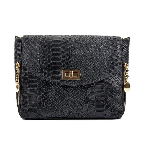 Čierna kožená kabelka Roberta M Misinato