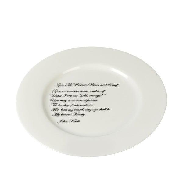 Porcelánový talíř Keats, 21 cm