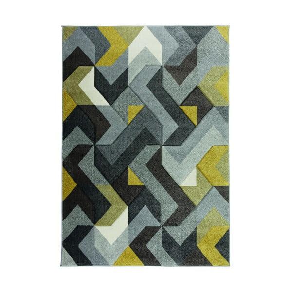 Covor Flair Rugs Aurora Grey Ochre, 120 x 170 cm