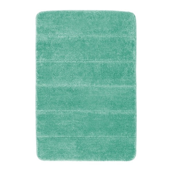 Tyrkysově modrá koupelnová předložka Wenko Steps, 60x90cm