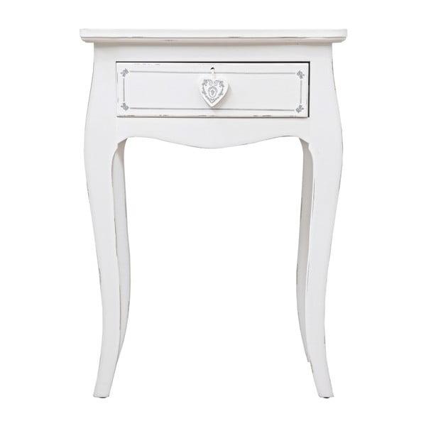 Odkládací stolek se zásuvkou Bizzotto Lisette, výška 69 cm