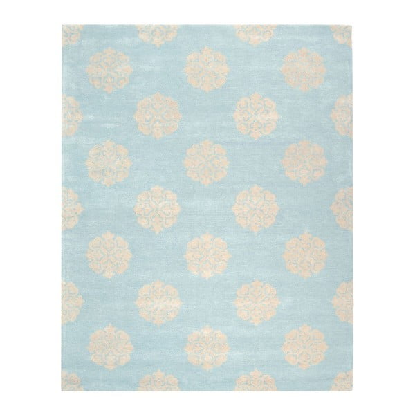 Vlněný koberec Safavieh Caroline, 228x289 cm, modrý