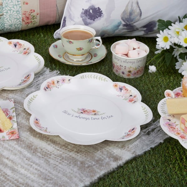 Sada 8 papírových talířů Neviti Time for Tea