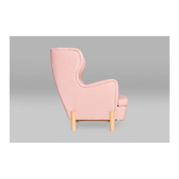 Růžové křeslo ušák SKANDICA Ingrid Flamingo