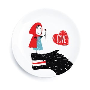 Porcelánový talíř We Love Home Little Red Love, 25 cm