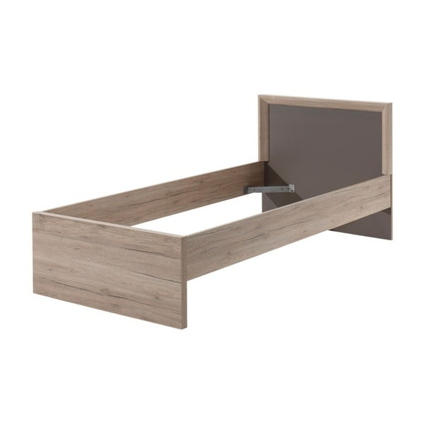 Hnedý rám postele Vipack Emma, 200 × 90 cm