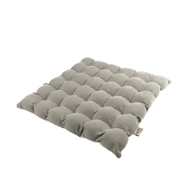 Světle šedý sedací polštářek s masážními míčky Linda Vrňáková Bubbles, 65x65cm