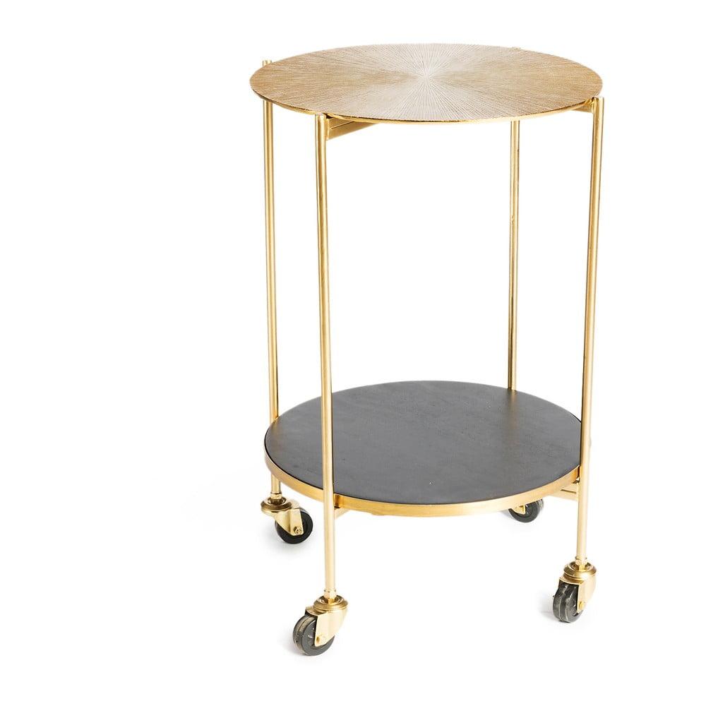 Servírovací stolek s kovovou konstrukcí ve zlaté barvě Simla Trolley