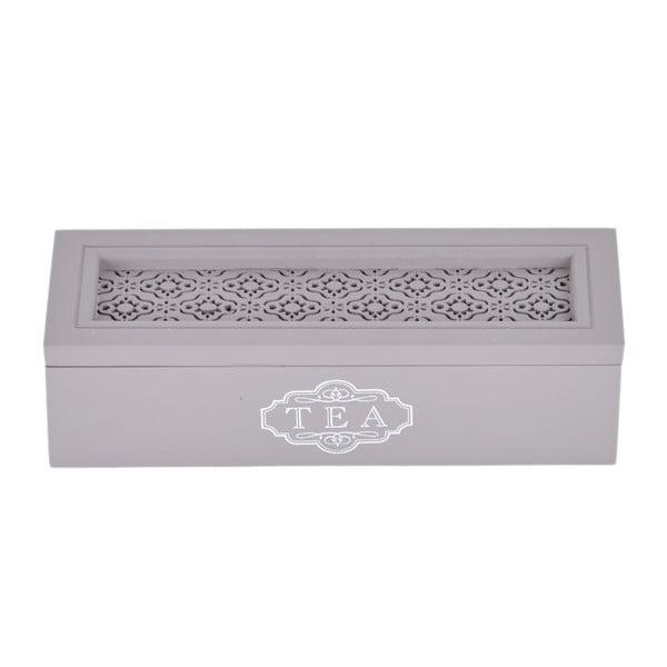 Dřevěná krabička na čaj Tea