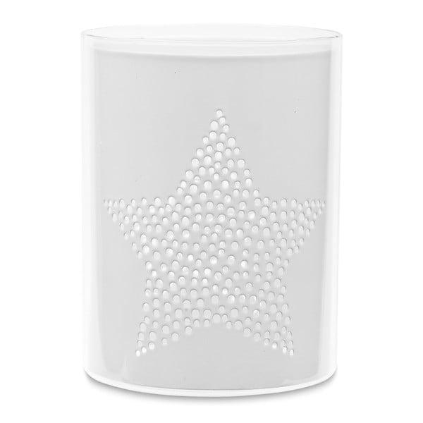 Svícen Star White Cylinder