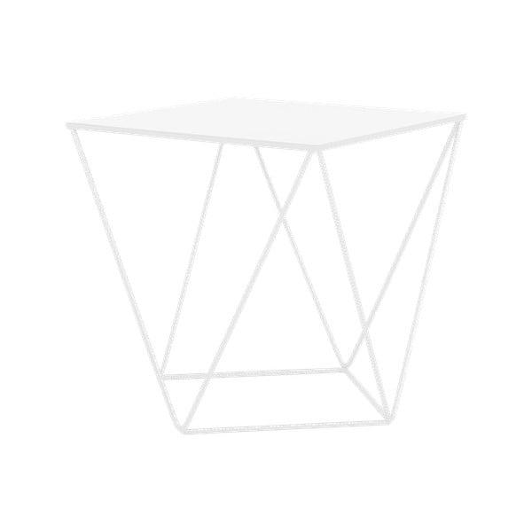 Biely odkladací stolík Custom Form Daryl, 55 × 55 cm