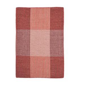 Červený ručně tkaný vlněný koberec Linie Design Bologna, 50x80cm