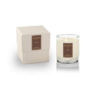 Vonná svíčka ve skle s vůní jantaru a lilie Bahoma London, 75 hodin hoření