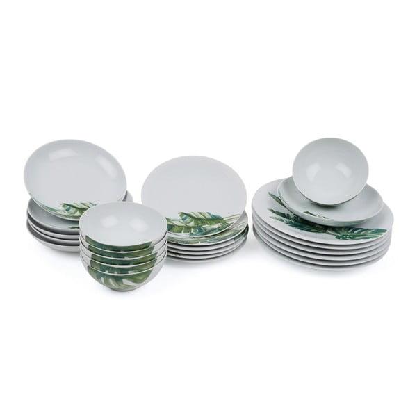 24-częściowy zestaw talerzy porcelanowych Kutahya Tracio