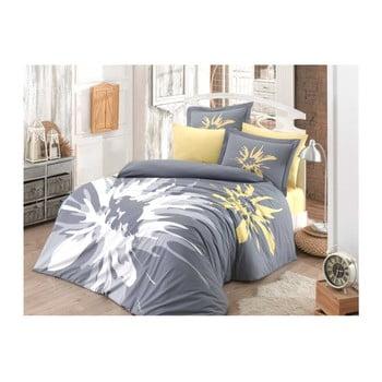 Lenjerie de pat cu cearșaf din bumbac poplin Ahley, 200 x 220 cm de la Hobby